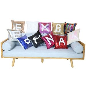 40*40cm Sublimation Magic Sequins Pillow Case DIY Blank PillowCase Without PP Cotton 13 Colors Personalized Customized Gifts DHL Free