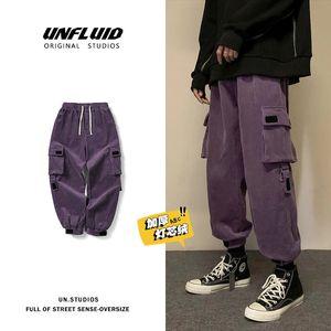 Winter Thickened Corduroy Pants Men's Warm Fashion Casual Retro Cargo Pants Men Streetwear Loose Hip-hop Straight Pants Mens X1217