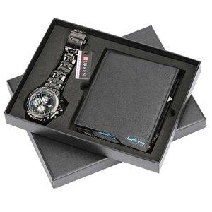 Nouvelle arrivée Cadeau Homme Set Exquisite Watch de l'emballage + Portefeuille Set Quality Creative Combinaison Creative Set