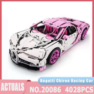 سلسلة تكنيك moc نموذج بوجاتي سوبر سباق السيارات اللبنات الطوب متوافق 20086 4028 قطع الأطفال اللعب هدايا عيد J1204