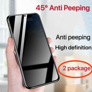 For Iphone7 7p 8 8p X XS XSmax XR 11 11pro 45 ° anti peeping film Full cover screen tempered film