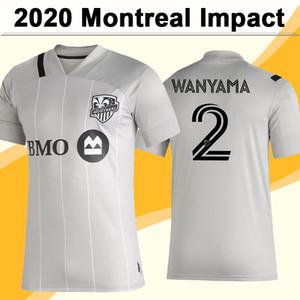 20 21 Montreal Воздействие Мужские футбольные трикотажные изделия Новый Ваньяма Пийтет Рейдер Уррути прочь Серый Футбол Рубашка с коротким рукавом Униформа для взрослых Джерси