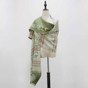 A new autumn winter 2019 colorful striped cashmere scarf for women with double purpose has been thickened with a super long scarf