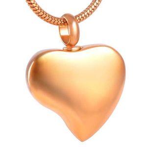 IJD8353 تلميع الفولاذ المقاوم للصدأ الصلبة اللون القلب urn قلادة تذكار تذكاري رماد حامل سحر قلادة