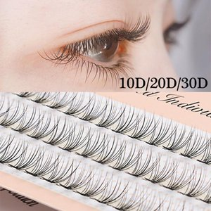 60 Clusters C Curl 10D 20D 30D False Eyelashes Individual Knot Free Eye Lashes Extension Handmade Soft Faux Mink Hair Wispy Lash