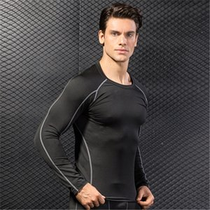 basketball shirt long sleeve outdoor shirts Mens Quick Dry shirt Sport t-shirt Men Running Clothes Breathable Running training T-shirt