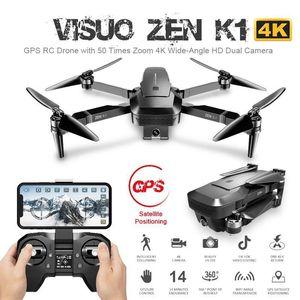 K1 RC 무인 항공기 5G 와이파이 GPS 브러시리스 50X 줌 4K 듀얼 카메라 30 분 싸움 시간 미용 필터 그림 RC 헬리콥터 대 F11 SG9061