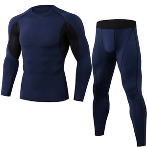 Sports Suit Men's New Fast Drying Tights Gym Training Running Fitness Suit Basketball Football Suit