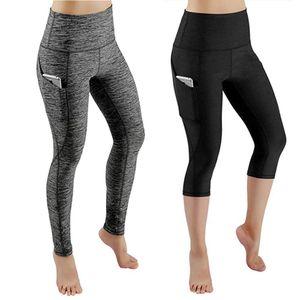 JGS1996 Yoga Pants Women Workout Out Pocket Leggings Fitness Sports Gym Running Yoga Elastic Waist Pants legging sport femme Z1125