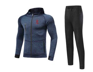 20 21 Newest Stade de Reims Jacket Footbal Jersey Pant Adult Soccer Set winter tracksuit men Jacket warm suits