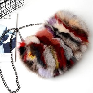 New Winter Real Fur Bag Soft Manmade Bag Fashion Lady Out Of Fur Warm Plush Christmas Gift Girl's Favorite.