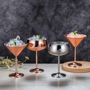 Zwei Farben Rotweinbecher Edelstahl Cocktail Cup 304 Material High Füße Martini Glas Neue Ankunft 27zy6 l1