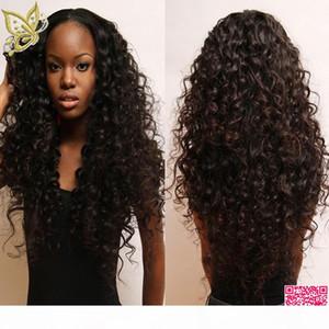 Peinado humano rizado profundo U Pelucas de piezas Sin despliegue Desplelar Desplicaciones de cabello humano Peluca Brasileña Peluca en forma de U Flow Flow Flow Rizado para mujeres negras