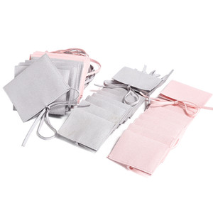 Takı Hediye Paketi Çanta Zarf Mücevherat Kolye Charm Kolye El Sanatları Depolama Ambalaj Butik Perakende Dükkanları için Pembe Gri Torbalar