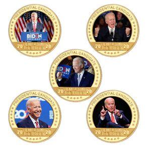 Joe Biden Placcato Gold Placcato Coin Congilibles con portatabagno USA Sfida moneta Presidente Regali di medaglia moneta originale per papà OWE3157