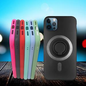 Креативный мягкий силиконовый чехол для телефона для iPhone12 Pro Max Anti-Drop Беспроводная зарядка телефона Чехол для iPhone 7 8Plus XR с кольцом кронштейна