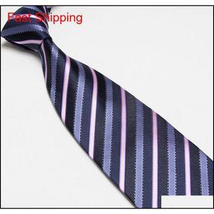 Mens Imitated Silk Necktie Imitated 100% Silk Stripe Tie Plain Jacq qylCMH homes2007