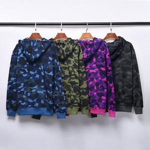 Herren Hoodies Mode Herren Stylist Cartoon Druck Hoodies Jacke Männer Womens Hohe Qualität Casual Sweatshirts 4 Farben Größe M-2XL Y7319