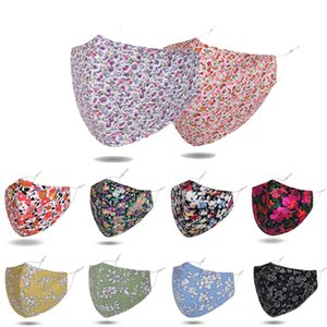 Flower Printing Face Masks Leopard Adult Face Mask Fashion Breathable Washable Mouth Cover Clause Reusable Printing Masks