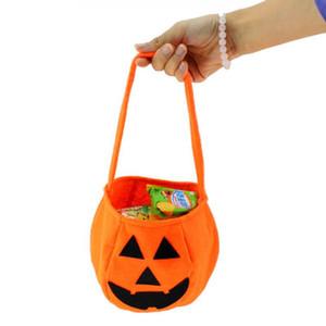 Halloween Pumpkin Bucket Plastic Mini Candy Holders Regalo per bambini Halloween Party Trucco o scherzetto Borse Ragazze Boys Storage