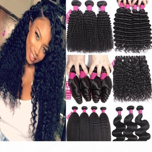 9A Brazilian Virgin Hair Peruvian Human Hair Weave Weaves Bundles Body Wave Straight Loose Wave Kinky Curly Deep Wave Human Hair Extensions
