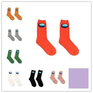 7 Style Among Us Socks Adults Kids Unisex Cotton Socks for Women Girls Men Novelty Cute Among Us Plush Stockings DHL Free 2020