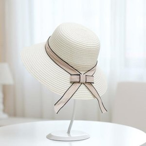 Cokk Summer Hats For Women Sun Hat With Bow Sun Protection Fashion Straw Beach Hat Female Travel Sunshade Wide Brim Sunhat Swy sqcOkX