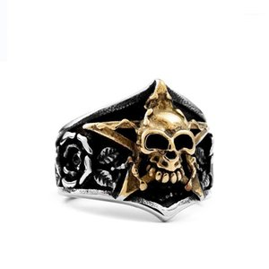 2020 Personality Skull Punk ring Fashion Tidal Gentleman The Index Finger Pentagram Man`s Jewelry1