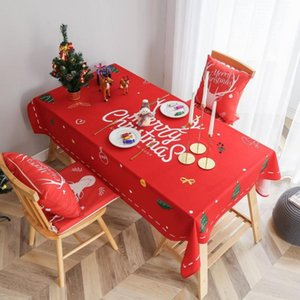 Elk Snowman Cotton Table Cloth Tablecloth For Table Christmas Tablecloth Decoracao Para Casa Cover Nappe De Mariage