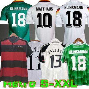 1990 1994 1988 Retro Littbarski Ballack Soccer Jersey Klinsmann Matthias 1998 2014 Camisetas Kalkbrenner Football Jersey 1996 2004 Klose Möller