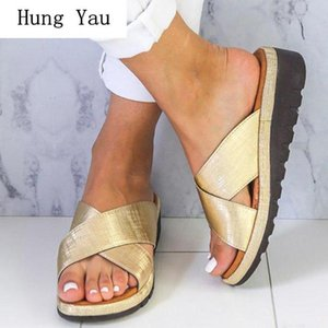 Women Sandals Flip Flops Slippers Flats Shoes 2020 Summer Fashion Platform Wedges Woman Slides Beautiful Lady Casual Female