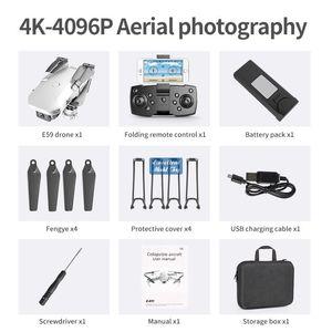 E59 4K Camera WIFI FPV Mini Beginner Drone Toy, Track Flight, Altitude Hold, One Button Return, Gesture Take Photo, Christmas Kid Gift, 3-2