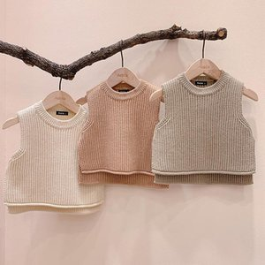 Baby Cute Overalls Waistcoat Baby Girls Boys Wool vest Clothes Infantil Girl Boy Sleeveless Romper Waistcoat 0-24months