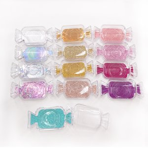 New Candy Shape Empty Acrylic Lash Packaging Case Glitter Card Empty 25mm False Eyelash Boxes with Tray Wholesale