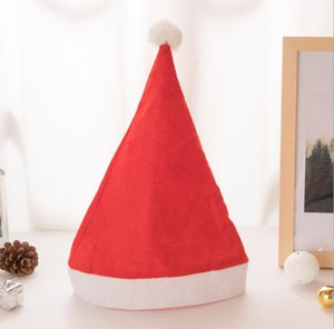 200pcs Christmas Hat Adult Children Christmas Cap Red Non-woven Cloth Hat For Santa Claus Costume Christmas Decoration gift Z1128