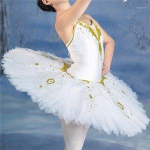 Professionnel Taille personnalisée de haute qualité Girls White Swan Swan Lake Ballet Tutu costumes1
