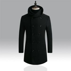 Мужские куртки мужчина мода одежда с двубортными с длинными рукавами халаты капюшонов пальто зимой толстые теплые мужчины M-3XL Chaqueas Hombre # C