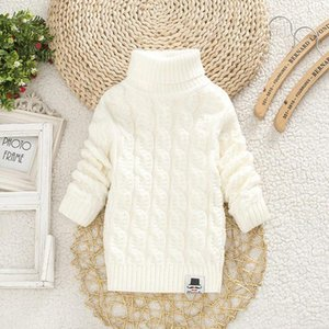 A001 Toddler Girls Sweaters 2019 Winter Warm Kids Boys Sweaters Knit Pullover Baby Girl Sweater Outerwear Clothing 90-140cm