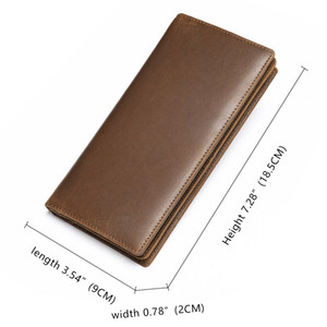 HBP WESTAL Male Clutch Men's Wallet Genuine Leather Purse for Men Leather Wallets with coin pocket Wallet for cards money bags 7126