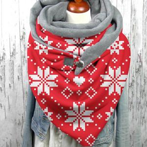 Scarves Fashion Women Scarve Soild Dot Printing Button Soft Wrap Casual Warm Shawls Comfortable Personality#3