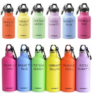 350ML 500ML Vacuum Insulated Stainless Steel Sports Water Bottle Double Wall Flask Narrow Mouth Thermos LoopCap with Carabiner 17oz mugs