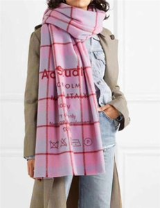 200*70cm ACNE Winter Wool Spinning Scarf Color Lattice Blanket Scarves Women Type Colour Chequered Tassel Imitated
