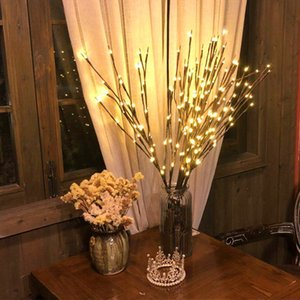 Christmas Decorations for Home LED Willow Branch Lamp Battery Powered Decorative Christmas Ornaments Christmas Tree Decorations Y1126