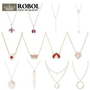 Alta qualidade original swa xl034 colar com gravado série norte strass colar moda elegante mulher jóias presente
