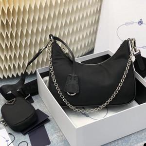 Nylon re edition 2005 small black multi pochette pra shoulder crossbody chain bag 2020 Hot Solds Womens Bags Designers Handbags Purses bolso