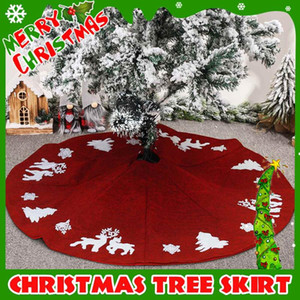 "48"" Christmas Tree Skirt Carpet New Year Decorations Double Layers Thick Christmas Tree Decor Skirt Mat Cover for Xmas Decor"