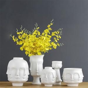 Flower Pots Planters Home Decor Flower Vase Ceramic Decorative Vase Plant Art Flower Pots Q1125