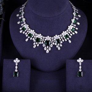 Accking luxury 2pcs Bridal Zirconia Jewelry Sets For Women Party, Luxury Dubai Nigeria CZ Crystal Wedding Jewelry Sets
