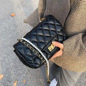 Handbags for Women 2020 Designer Luxury Ladies Sling Crossbody Over Shoulder Leather Cross Bag Pearl Belt Designer