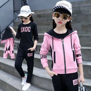 Ragazza 2020 Coreano New Children Wear Autunno Sport Suit Casual Fashion Hoodied Set all'ingrosso